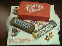 Kit-kat birthday cake